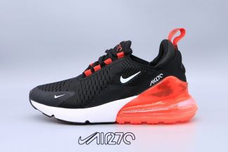 New Nike Air Max 270 Black Total Orange White