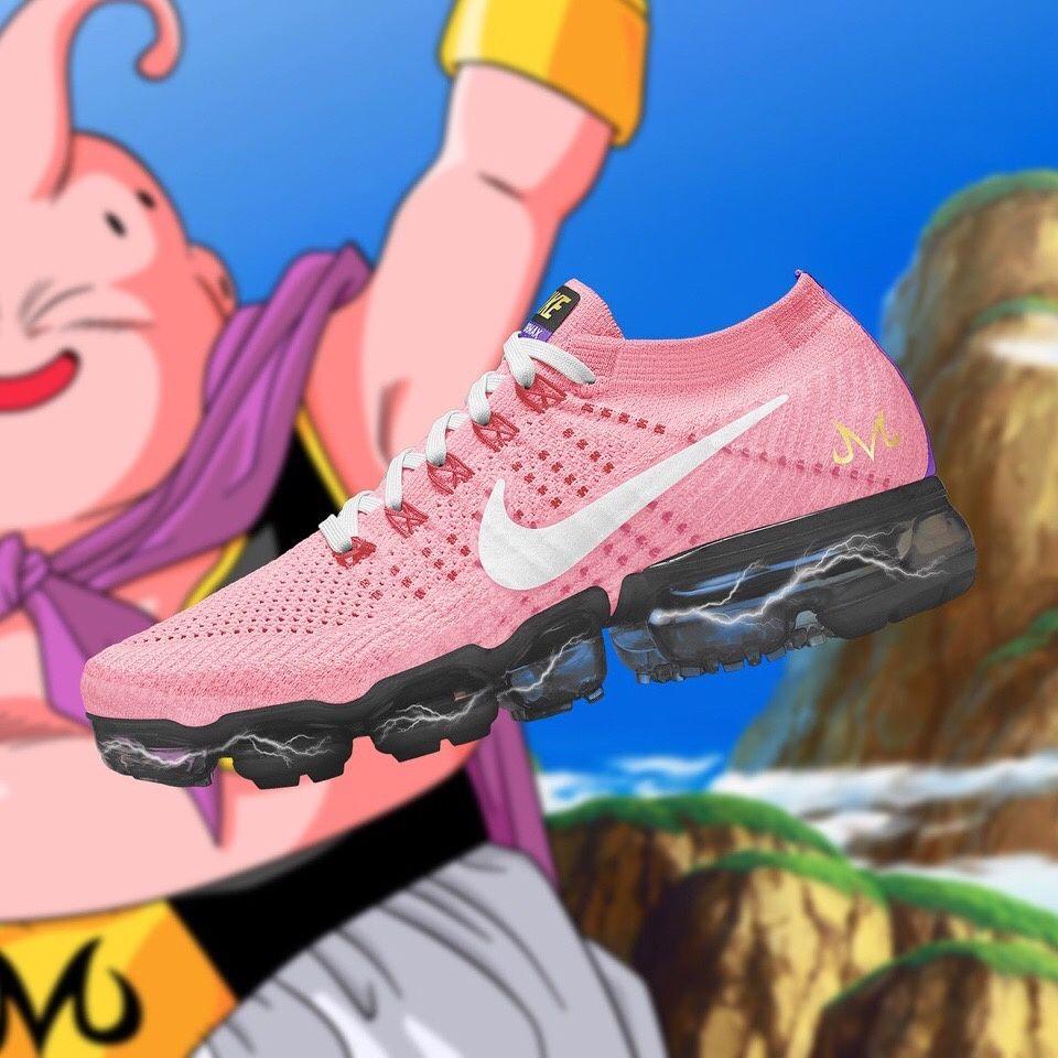 Girls Dragon Ball Super x Nike Air VaporMax Majin Buu Pink