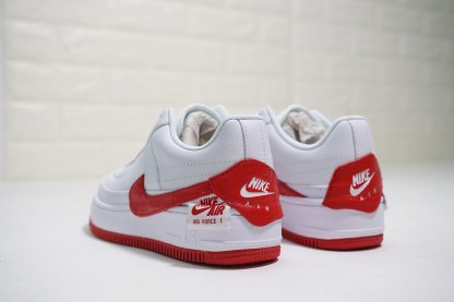 Nike Air Force 1 Low Jester White University Red heel
