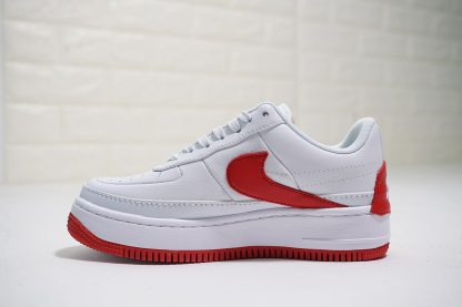 Nike Air Force 1 Low Jester White University Red swoosh