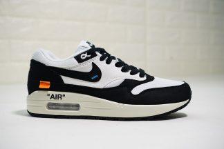 Off White X Nike Air Max 1 Black White