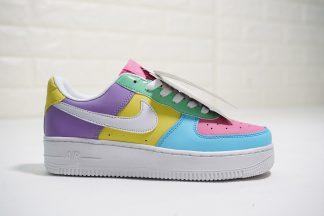 Custom Nike Air Force 1 07 QS Turquoise Pink