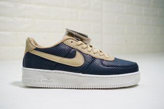 Nike AF1 Upstep Navy Blue Light Brown