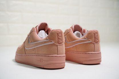 Nike Air Force 1 07 L.V.8 Suede Salmon Pink heel
