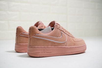 Nike Air Force 1 07 L.V.8 Suede Salmon Pink white piping