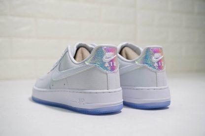Nike Air Force 1 07 PRM White Blue Tint heel
