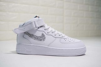 Nike Air Force 1 AF1 Mid Just Do it White
