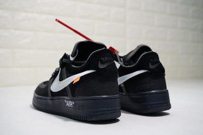 Off-White x Nike Air Force 1 Low Black White heel