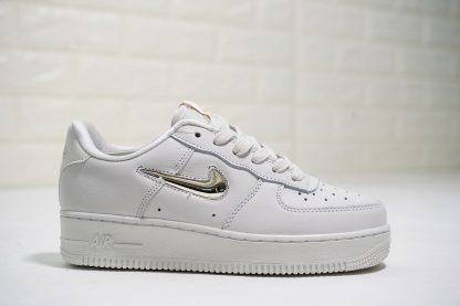 White Nike Air Force 1 LX Jewel-Swoosh