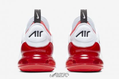 Women Nike Air Max 270 White University Red back