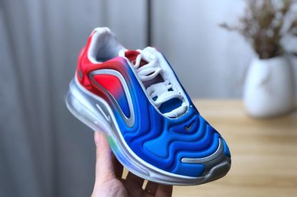 GS Nike Air Max 720 Royal Blue University Red on hand
