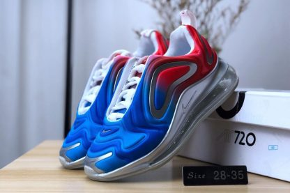 GS Nike Air Max 720 Royal Blue University Red shoes