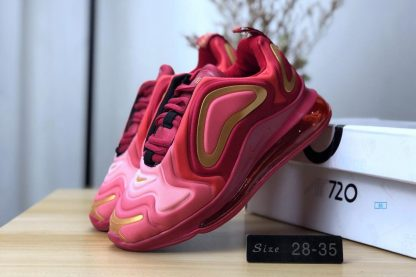 Kids Air Max 720 Burgundy Gold for sale