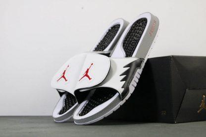 Jordan Hydro 5 V White Red Silver Sandals Mens Slide