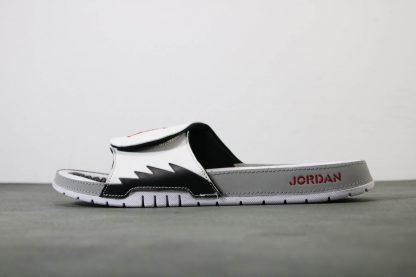 Jordan Hydro V 5 White Red Silver Sandals Mens Slide