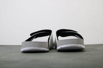 Jordan Hydro V White Red Silver Sandals Mens Slide back