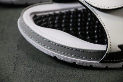 Jordan Hydro V White Red Silver Sandals Mens Slide detail