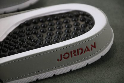 Jordan Hydro V White Red Silver Sandals Mens Slide logo