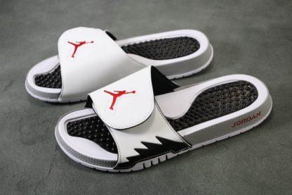 Jordan Hydro V White Red Silver Sandals Mens Slide sale