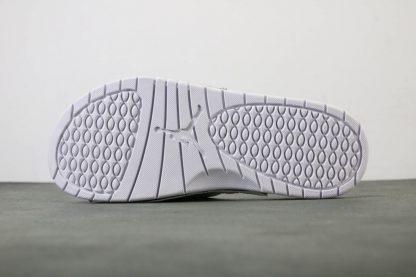 Jordan Hydro V White Red Silver Sandals Mens Slide sole