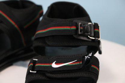 Nike Air Max 720 Sandal Black Green-Red close look