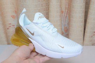 Nike Air Max 270 White Gold Glitter