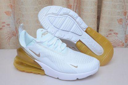 Nike Air Max 270 White Gold Glitter sole