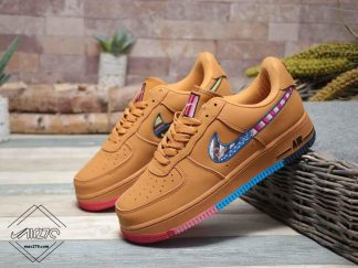 Nike Air force 1 Low Wheat with Parra swoosh