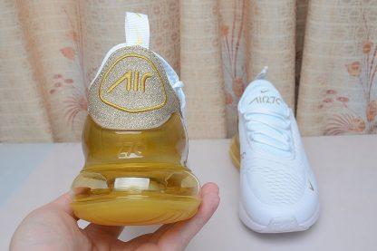 back Nike Air Max 270 White Gold Glitter look