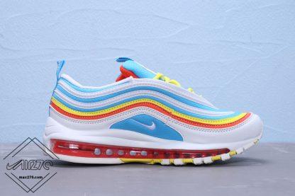 Grade School Air Max 97 White-BlueYellow GS Shoes