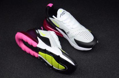 Max 270 White Black Volt Fuchsia AH8050-109 shoes