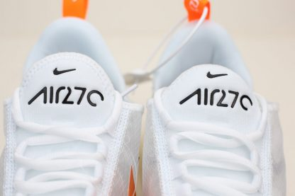 Nike Air Max 270 Summer White Total Orange brand logo