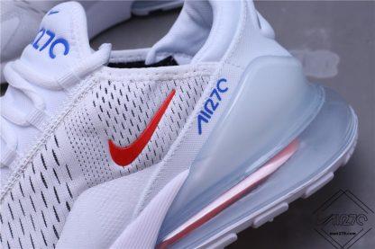 Nike Air Max 270 White Royal Red swoosh