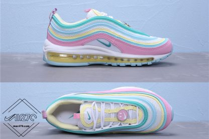 Smile Face New Version Nike Air Max 97 Pink-Blue-Yellow
