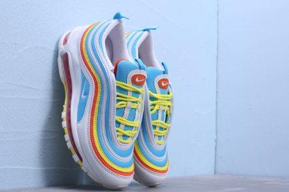 buy Air Max 97 White-BlueYellow GS Shoes