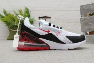 Nike Air Max 270 White Black With Red Flower Swoosh