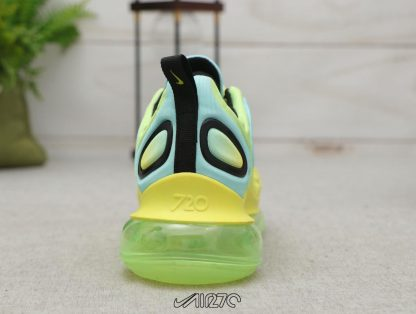 Nike Air Max 720 Volt Bordeaux Volt Glow Black heel