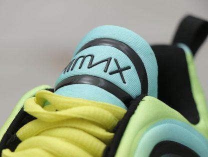 Nike Air Max 720 Volt Bordeaux Volt Glow Black tongue