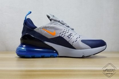Older Kids Size Air Max 270 Wolf Grey Midnight Navy shoes