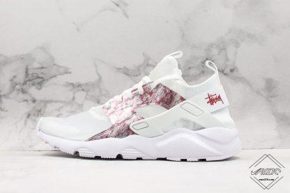 Nike Air Huarache 4 Run Suede Grey Pink-White