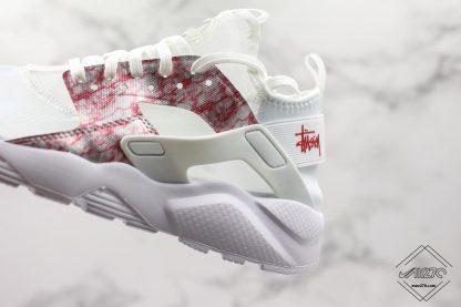 Nike Air Huarache 4 Run Suede Grey Pink-White sale