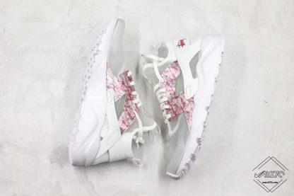 Nike Air Huarache 4 Run Suede Grey Pink-White shoes