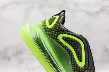 Nike Air Max 720 Neon Black Bright Green close look