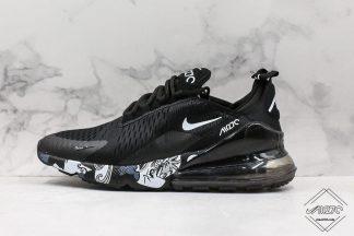 Black Nike Air Max 270 White Floral Decor