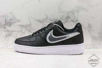 Nike Air Force 1 Low Oversized Swoosh Black White