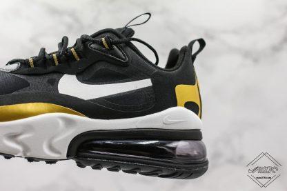 Nike Air Max 270 React Black Gold shoes