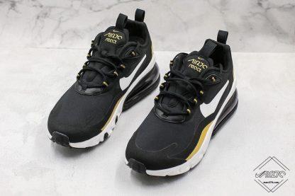 Nike Air Max 270 React Black Gold snekaer