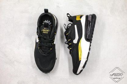 Nike Air Max 270 React Black Gold tongue