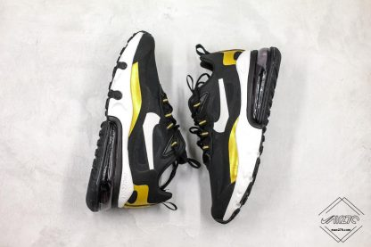 Nike Air Max 270 React Black Gold white swoosh