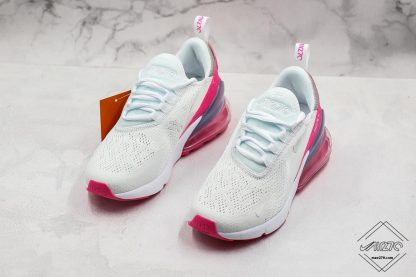 Nike Air Max 270 White Aluminum Grey-Pink for sale